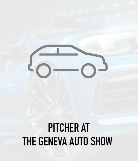Pitcher at the Geneva Auto Show